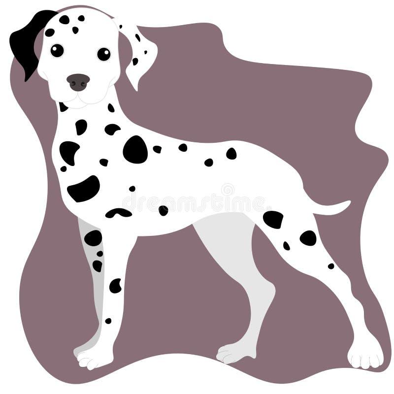 Ilustração da Web de um cão Dalmatian bonito toda a atenção ilustração do vetor