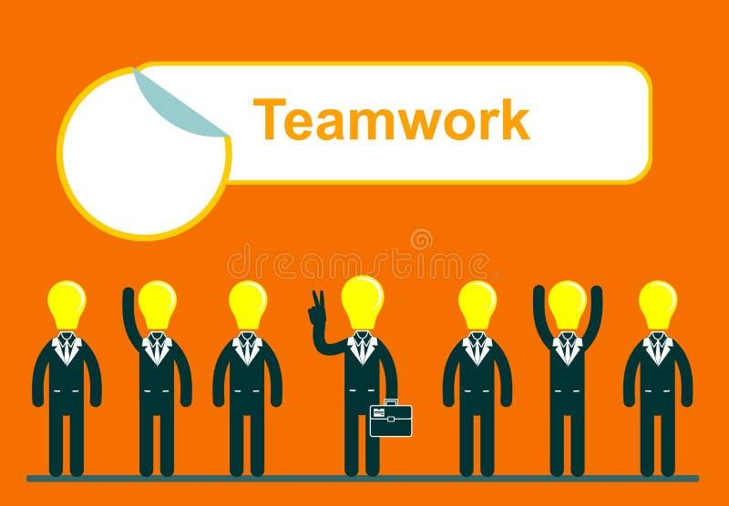 Ilustração da Web dos trabalhos de equipa dos executivos ilustração royalty free