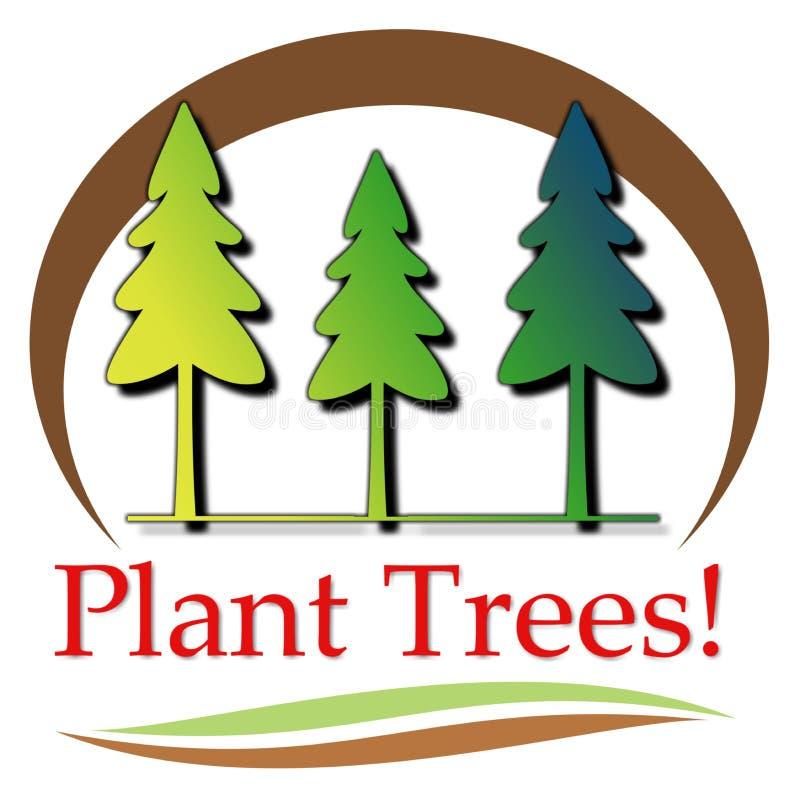 Ilustração das árvores da planta fotos de stock