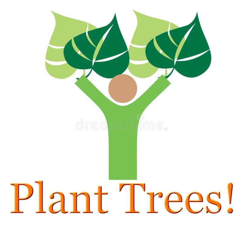 Ilustração das árvores da planta foto de stock