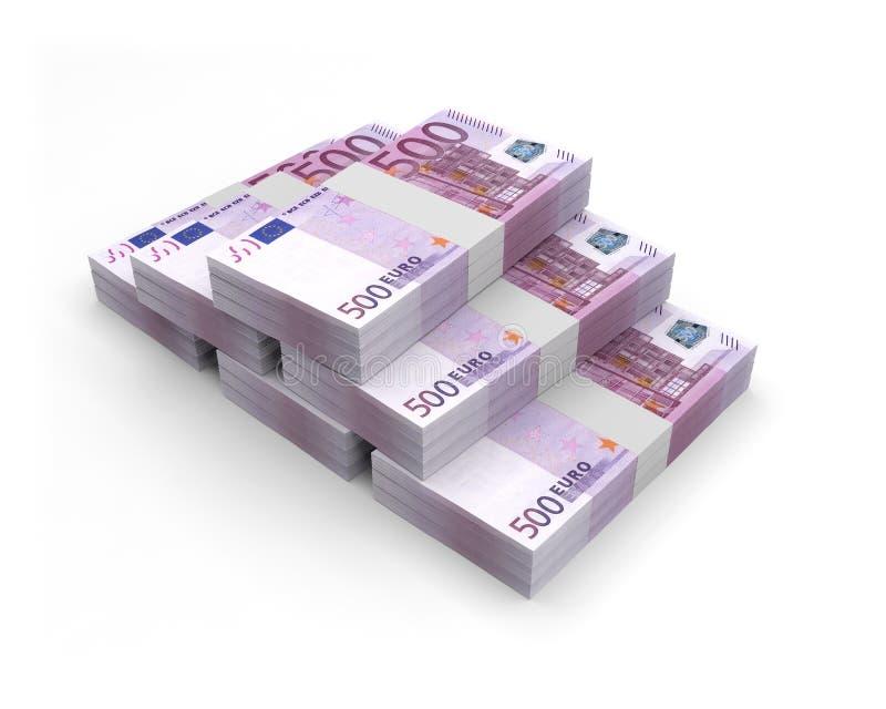 Ilustração das cédulas 3D da moeda euro- ilustração royalty free