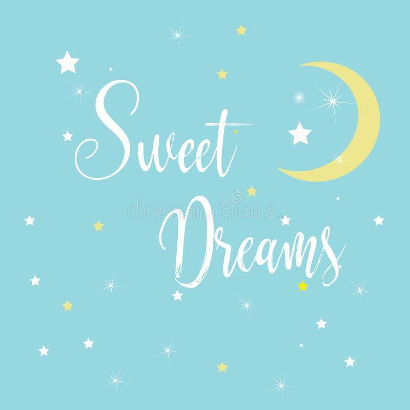 Ilustração das citações - sonhos doces ilustração stock