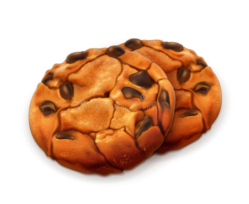 Ilustração das cookies do chocolate ilustração stock