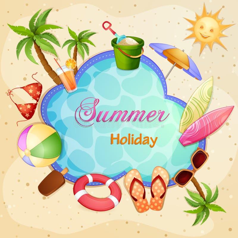 Ilustração das férias de verão ilustração royalty free