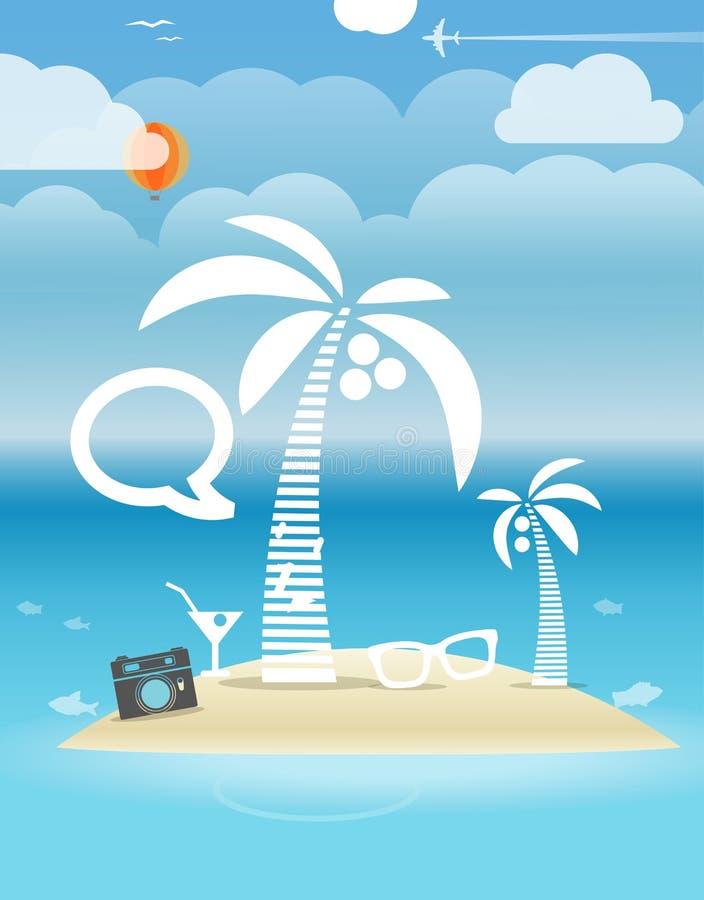 Ilustração das férias do beira-mar do verão ilustração stock