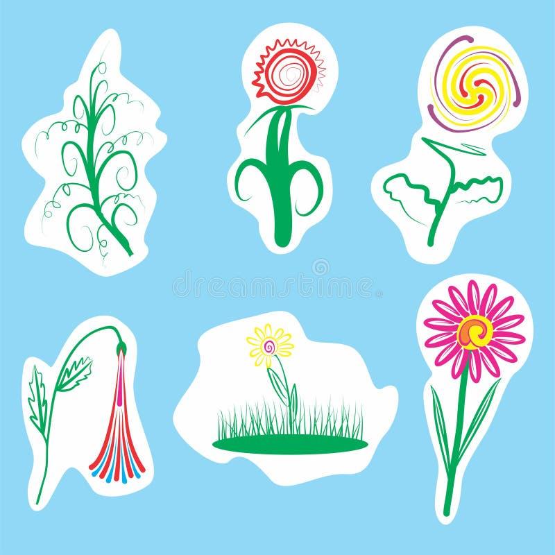 Ilustração das flores ilustração stock
