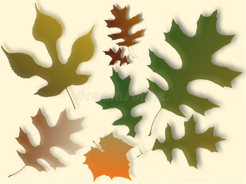 Ilustração das folhas de outono ilustração do vetor