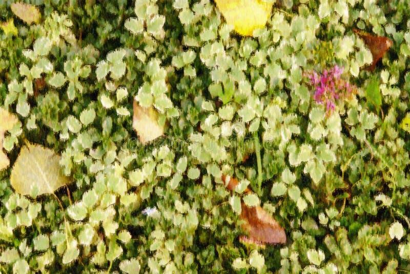 Ilustração das folhas de outono amarelas e alaranjadas no parque da queda imagens de stock royalty free