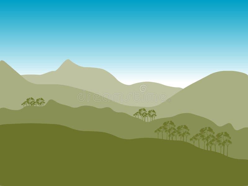 Ilustração das montanhas   ilustração royalty free