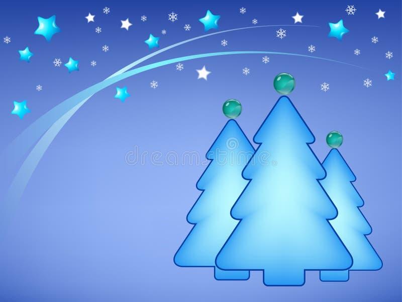 Ilustração de árvores de Natal ilustração do vetor