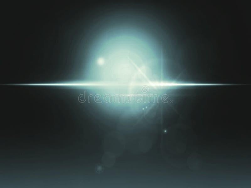 Ilustração de alargamentos de Len no fundo escuro imagens de stock