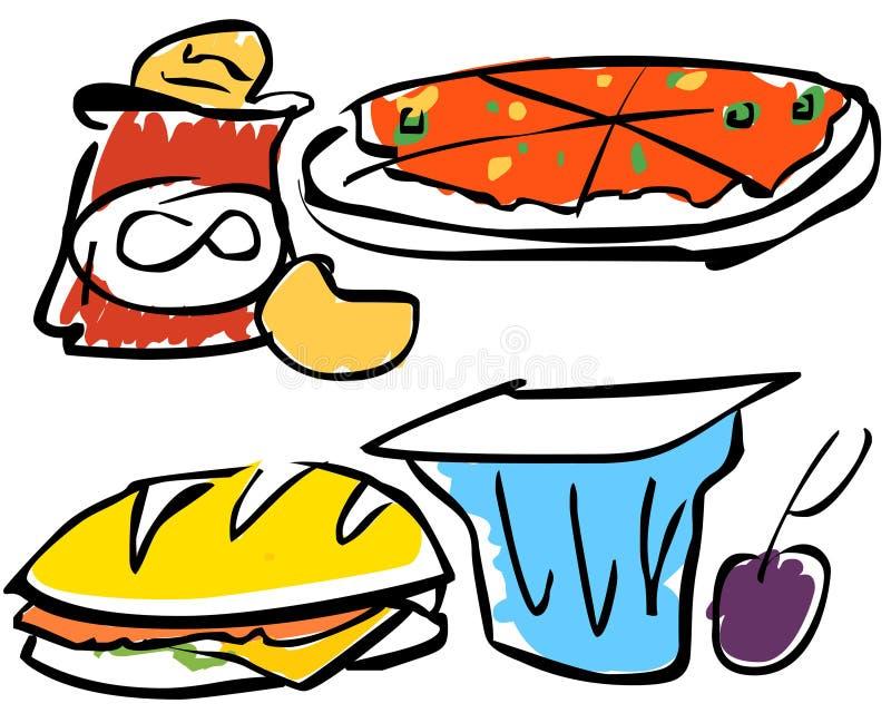 Ilustração de alimentos de petisco   fotos de stock