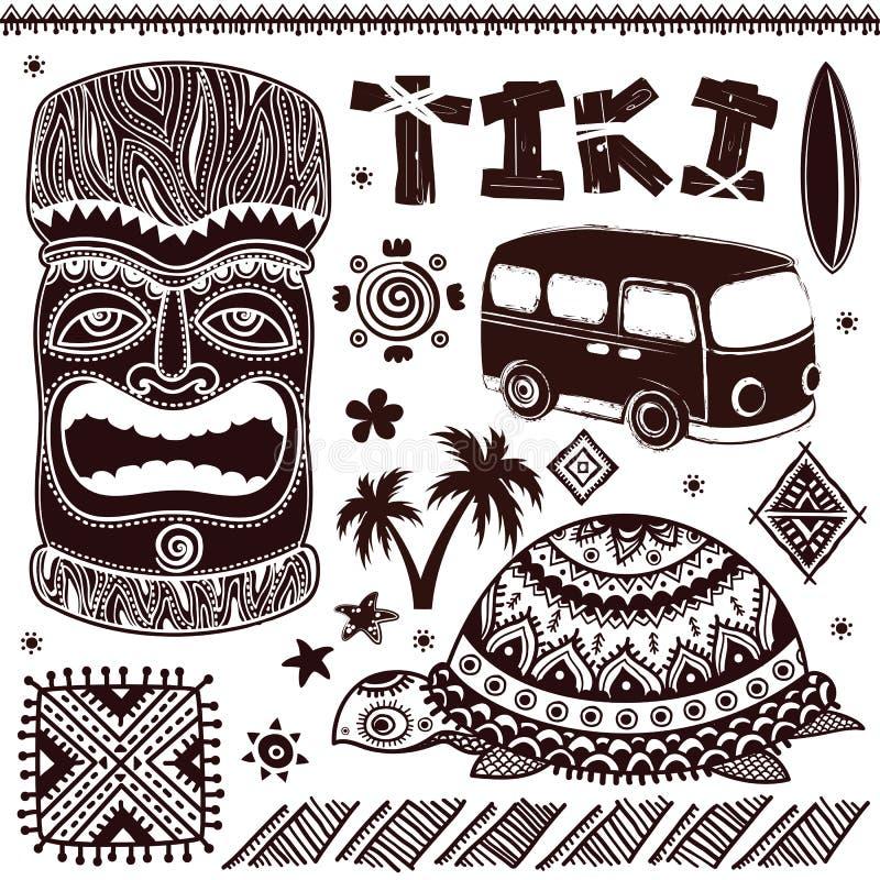 Ilustração de Aloha Tiki do vintage ilustração royalty free