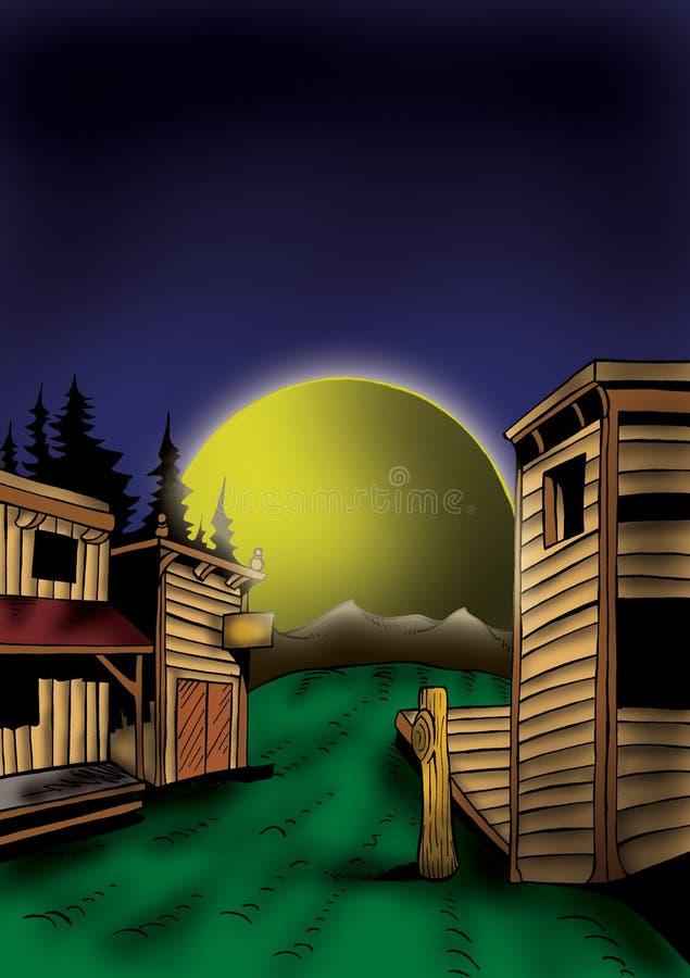 Ilustração de alta qualidade da paisagem ocidental selvagem, tampa, fundo, papel de parede ilustração stock