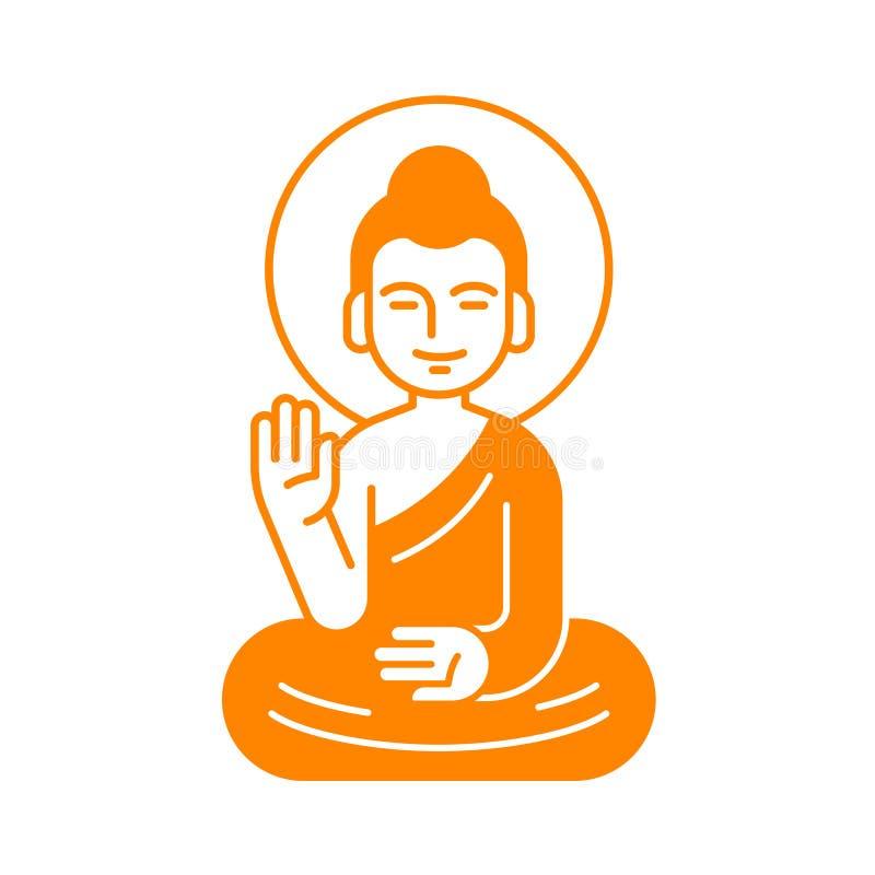 Ilustração de assento da Buda ilustração stock