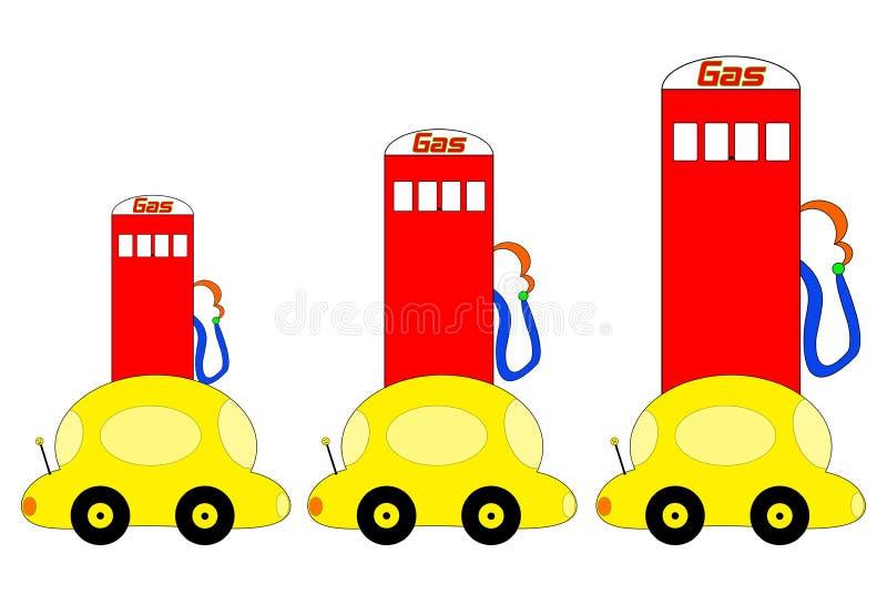 Ilustração de aumentação dos preços de gás ilustração royalty free