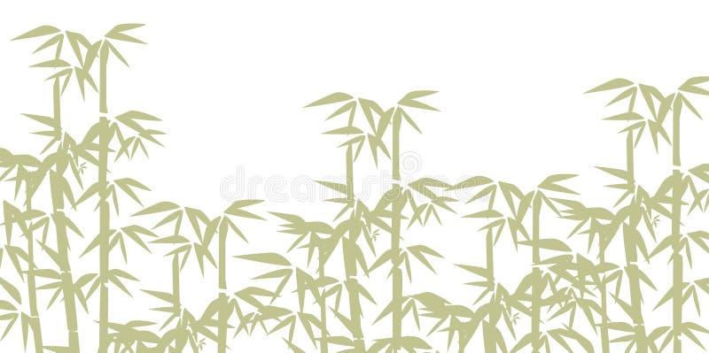 Ilustração de bambu Projete para cópias, termas asiáticos e massagem, cosméticos pacote, materiais ilustração do vetor