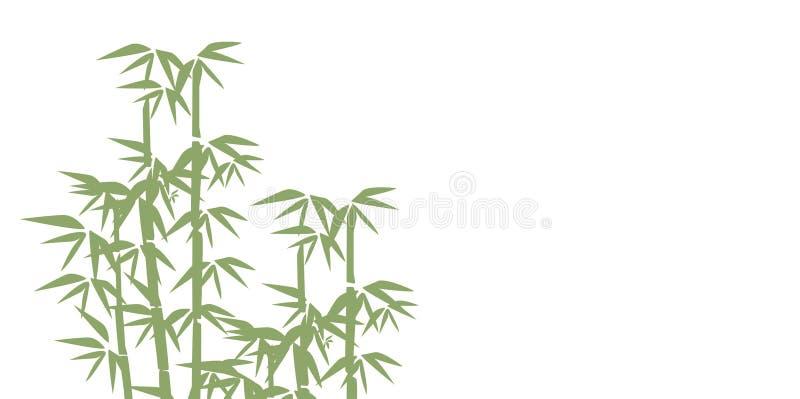 Ilustração de bambu Projete para cópias, termas asiáticos e massagem, cosméticos pacote, materiais ilustração royalty free