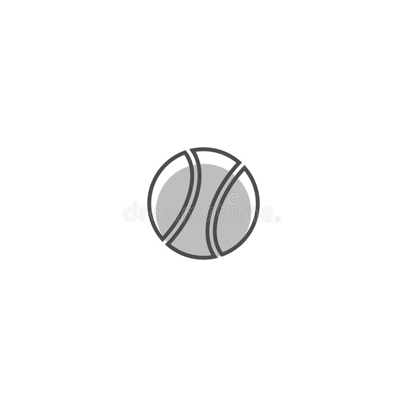 Ilustração de bola de tênis ilustração stock