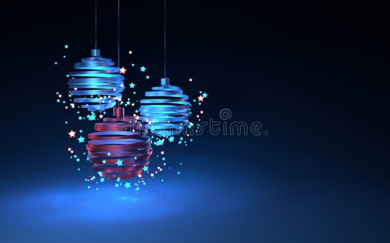 Ilustração de bolas de um Natal foto de stock royalty free