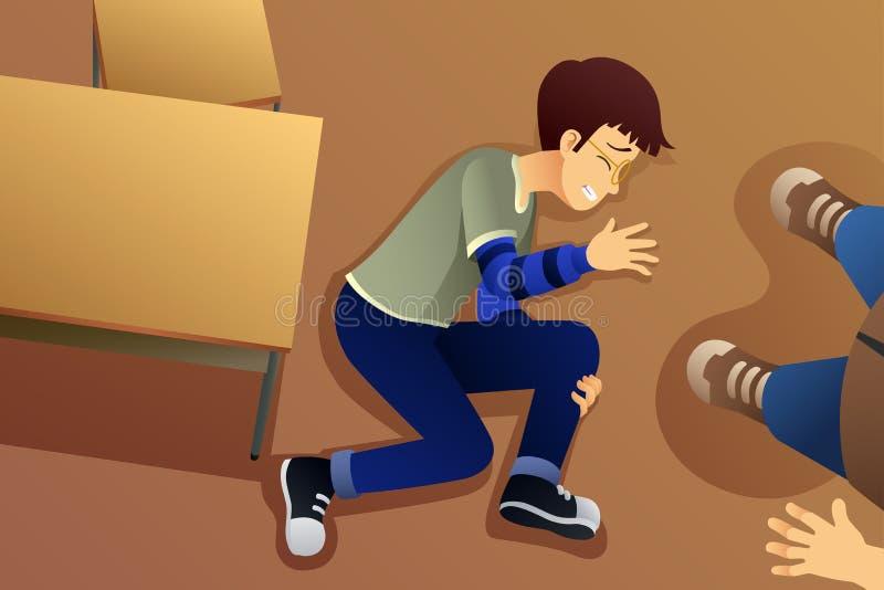 Ilustração de Bullying His Friend do estudante ilustração royalty free
