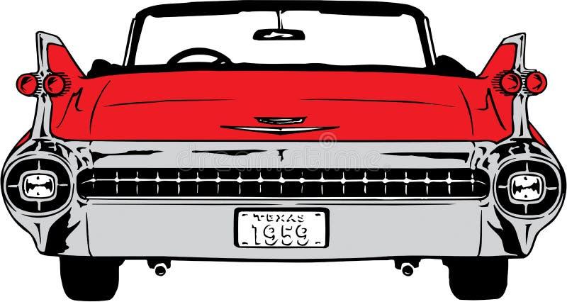 Ilustração 1959 de Cadillac ilustração stock