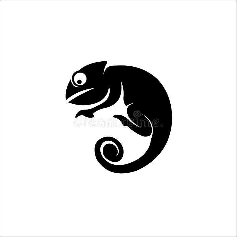 Ilustração de Camaleão Símbolos Répteis Símbolo silhueta Logotipo Vetor ilustração do vetor