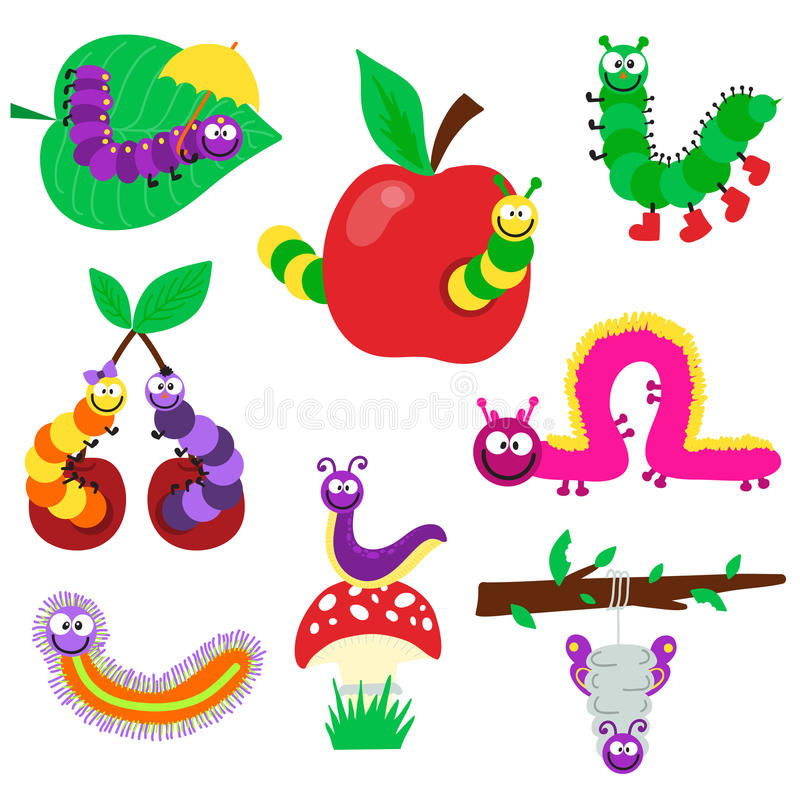 Ilustração de Caterpillar ilustração do vetor