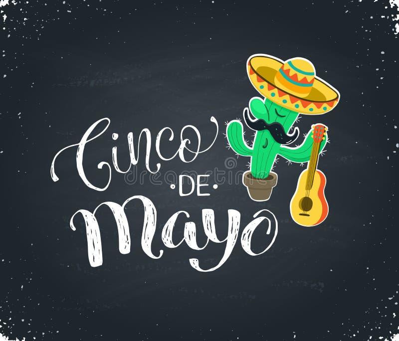 Ilustração de Cinco de Mayo ilustração stock