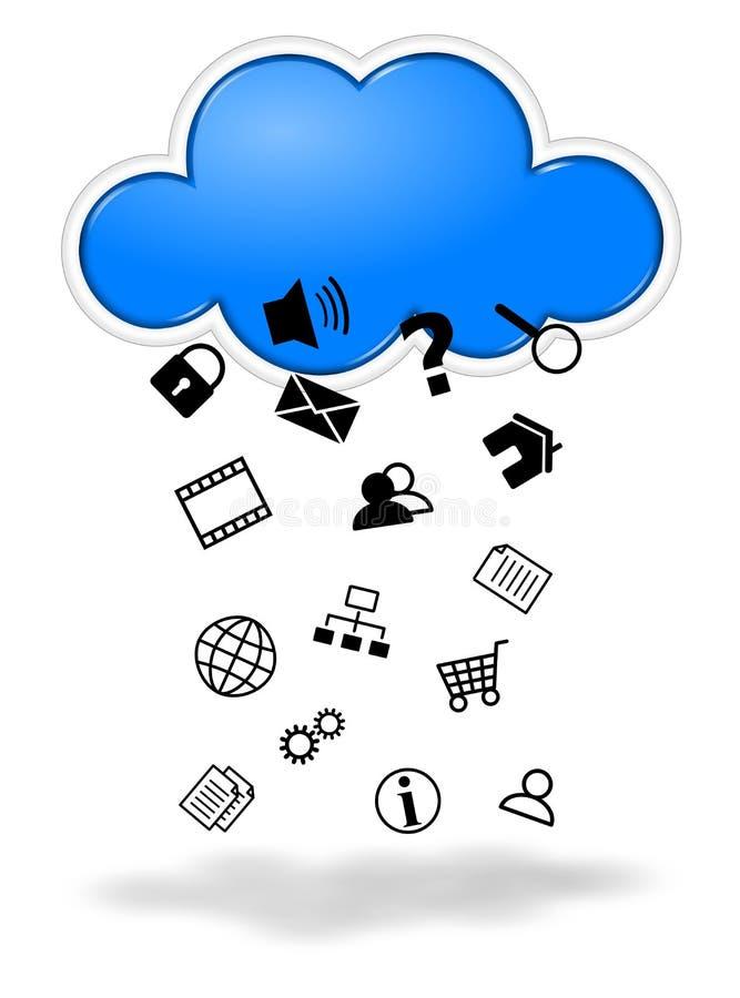 Ilustração de computação do conceito da nuvem ilustração royalty free