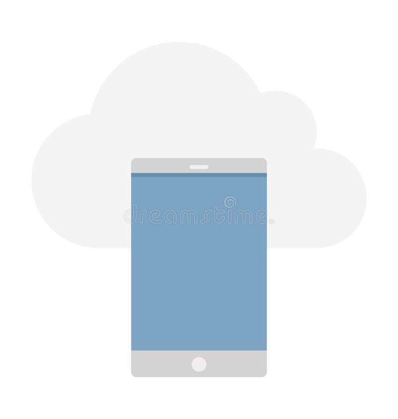 Ilustração de computação do vetor da nuvem fotos de stock