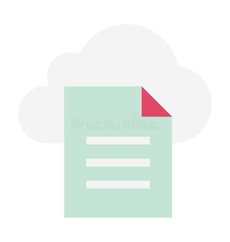 Ilustração de computação do vetor da nuvem imagem de stock royalty free