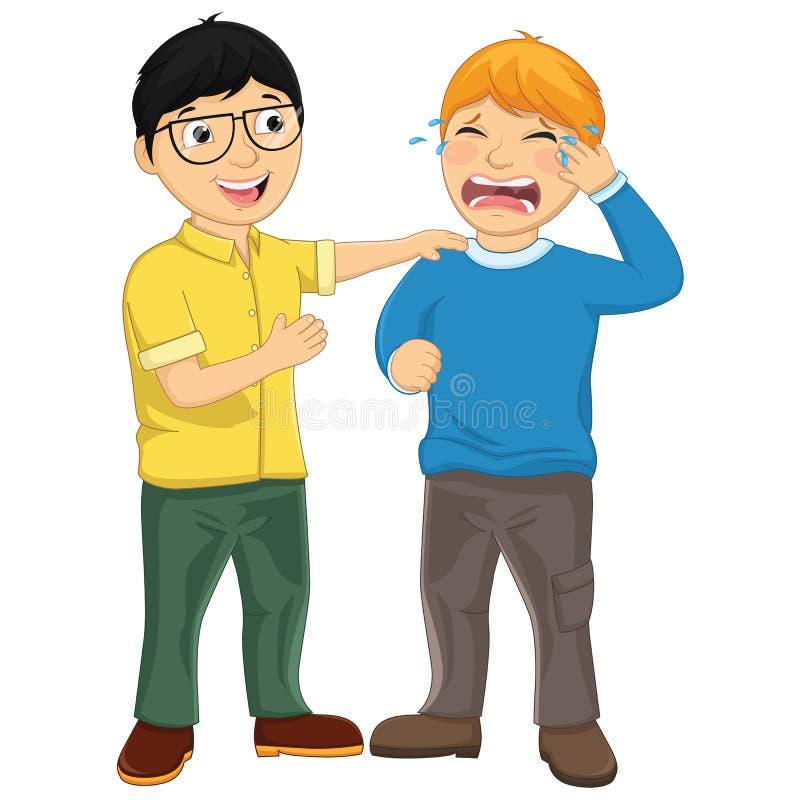 Ilustração de consolação do vetor do amigo da criança ilustração royalty free