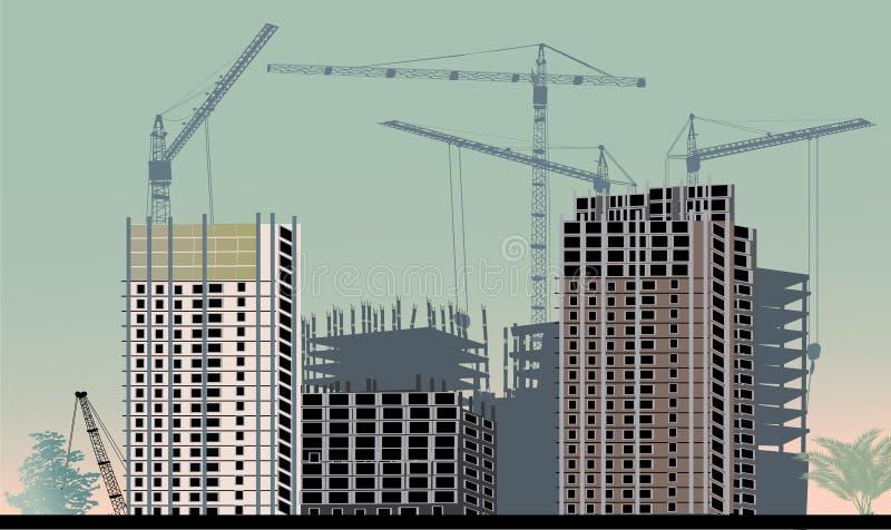 Ilustração de cor com edifício de casa ilustração royalty free