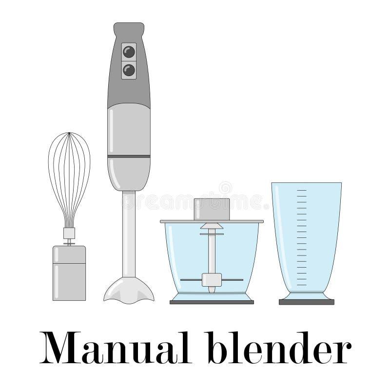 Ilustração de cor do misturador manual ilustração royalty free