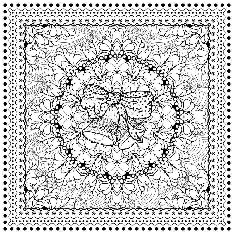 Ilustração de cor do vetor preto mono ilustração stock