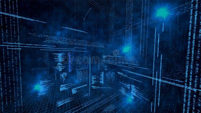 Ilustração de dados virtuais ilustração stock