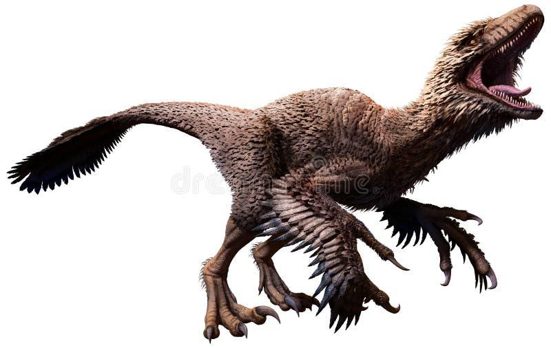Ilustração de Dakotaraptor 3D ilustração royalty free