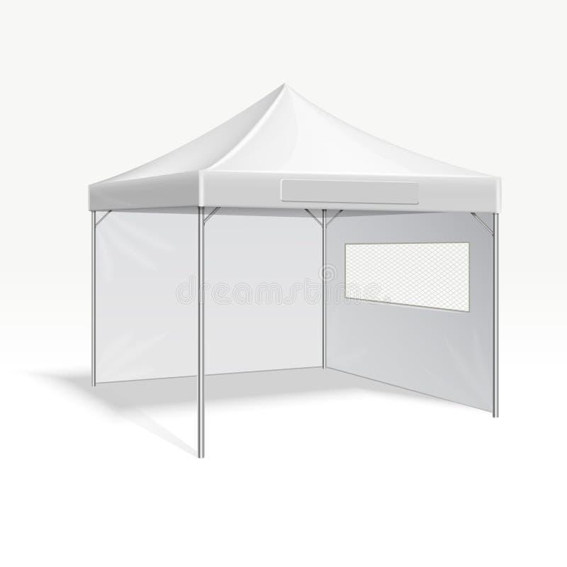 Ilustração de dobramento do vetor da barraca da propaganda relativa à promoção para o evento exterior ilustração stock