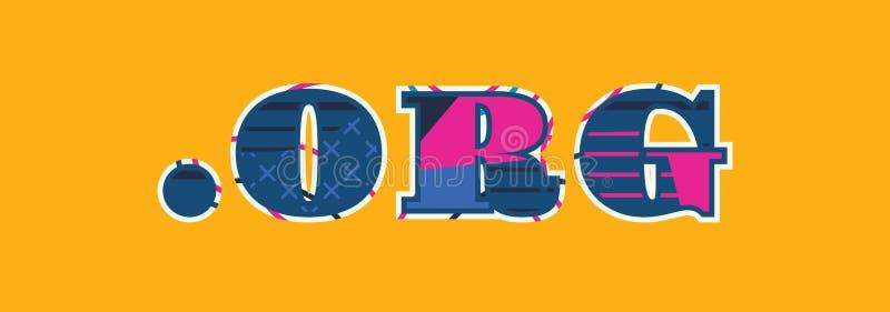 Ilustração de Dot Org Concept Word Art ilustração do vetor