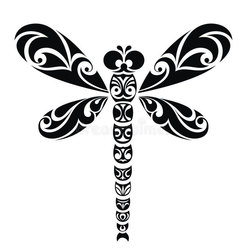 Ilustração de Dragonfly.Vector pronta para o cutt do vinil ilustração do vetor