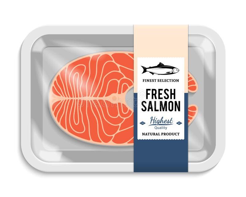 Ilustração de empacotamento salmon do vetor ilustração do vetor