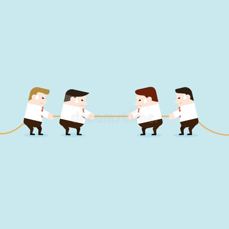 Ilustração de equipes do negócio no conflito ilustração do vetor