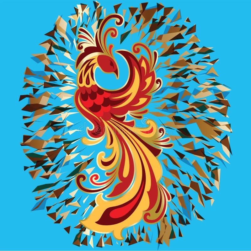 Ilustração de Firebird da legenda do pássaro do fogo de Phoenix ilustração stock