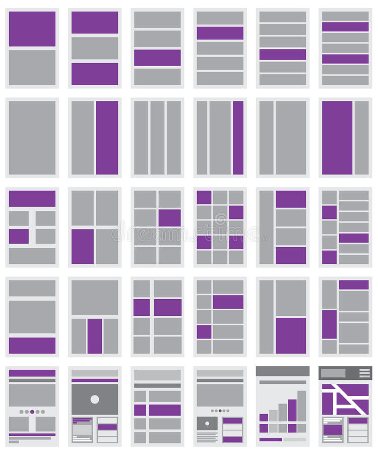 Ilustração de fluxogramas e de mapa do site do Web site ilustração do vetor