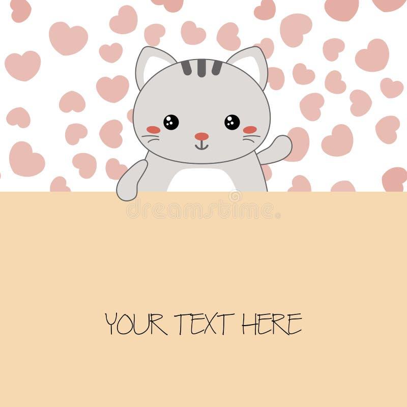 Ilustração de gatos bonitos ilustração do vetor