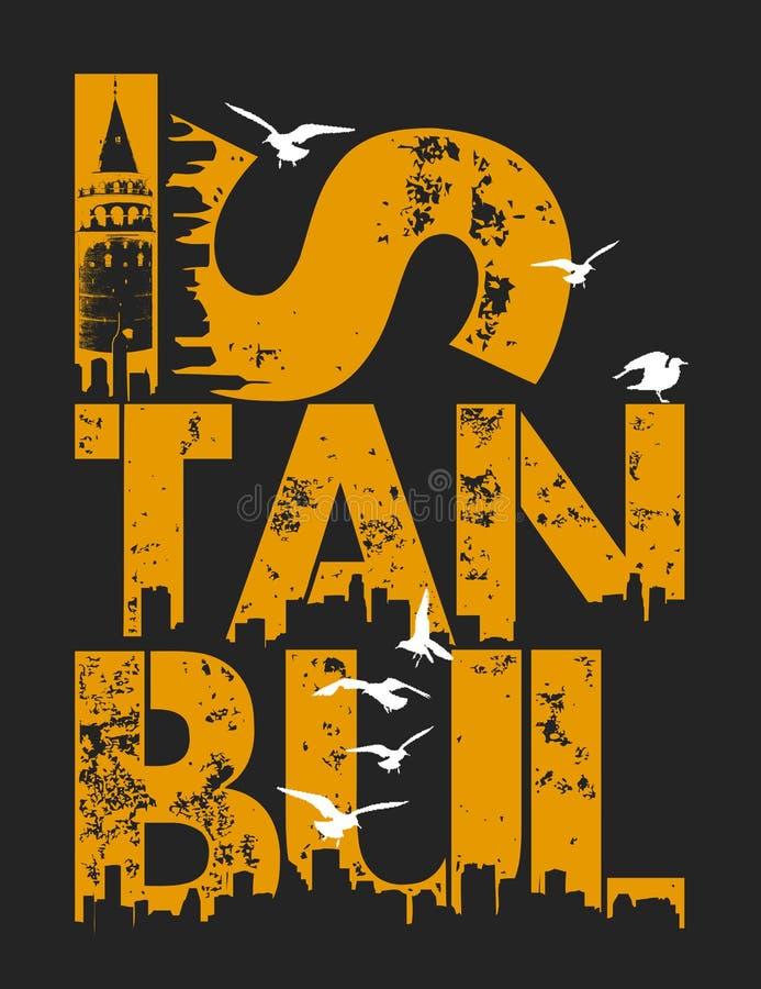 ilustração de Istambul, gráfico do t-shirt ilustração stock
