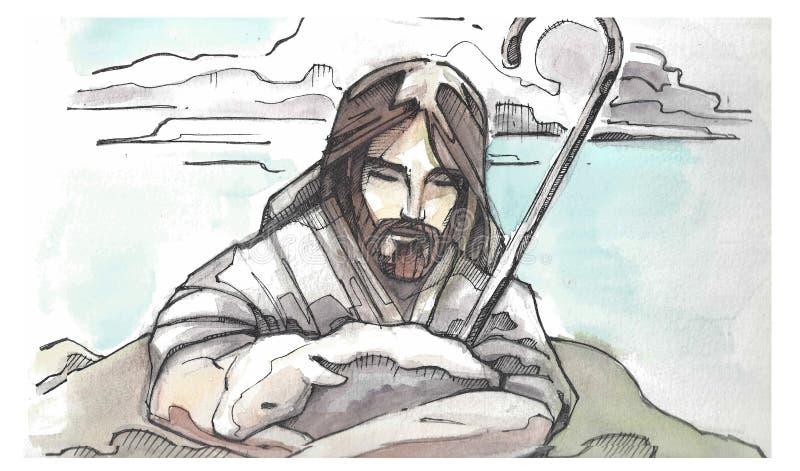 Ilustração de Jesus Goos Shepherd ilustração royalty free