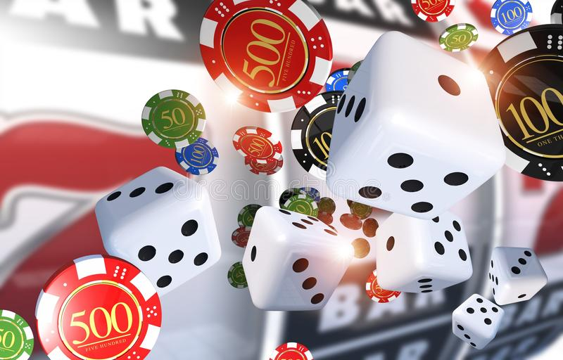 Ilustração de jogo do casino ilustração stock