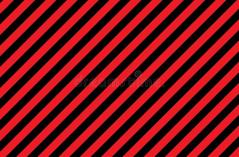 Ilustração de listras vermelhas e pretas um símbolo de substâncias perigosas e radioativas A amostra é amplamente utilizada na in imagens de stock royalty free